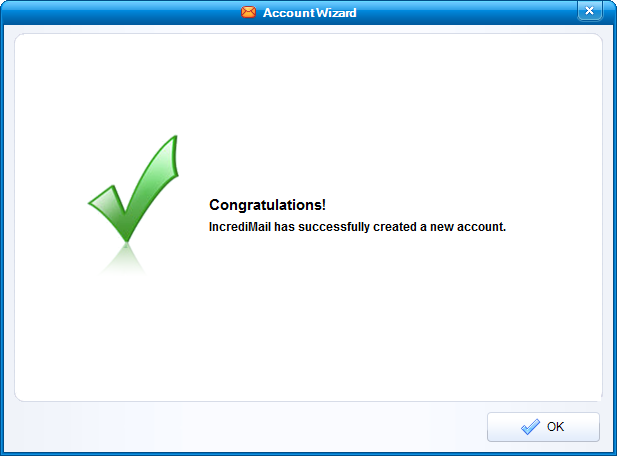 Successfully created a new account