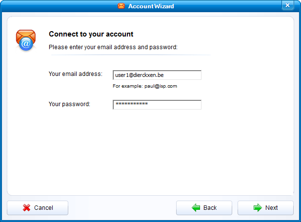 Connect to your account
