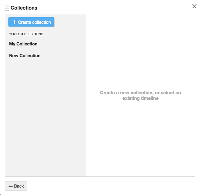 Create collections