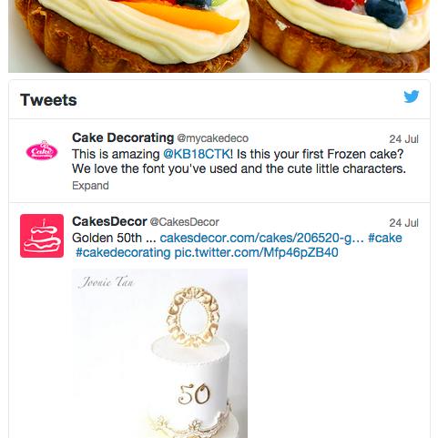 Example Twitter Favourites widget