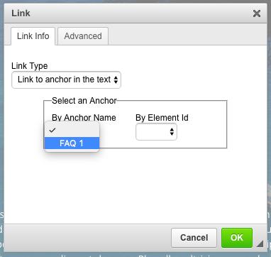 Select an anchor