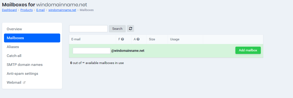 add mailbox