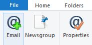 Allez dans l'onglet Comptes et cliquez sur E-mail