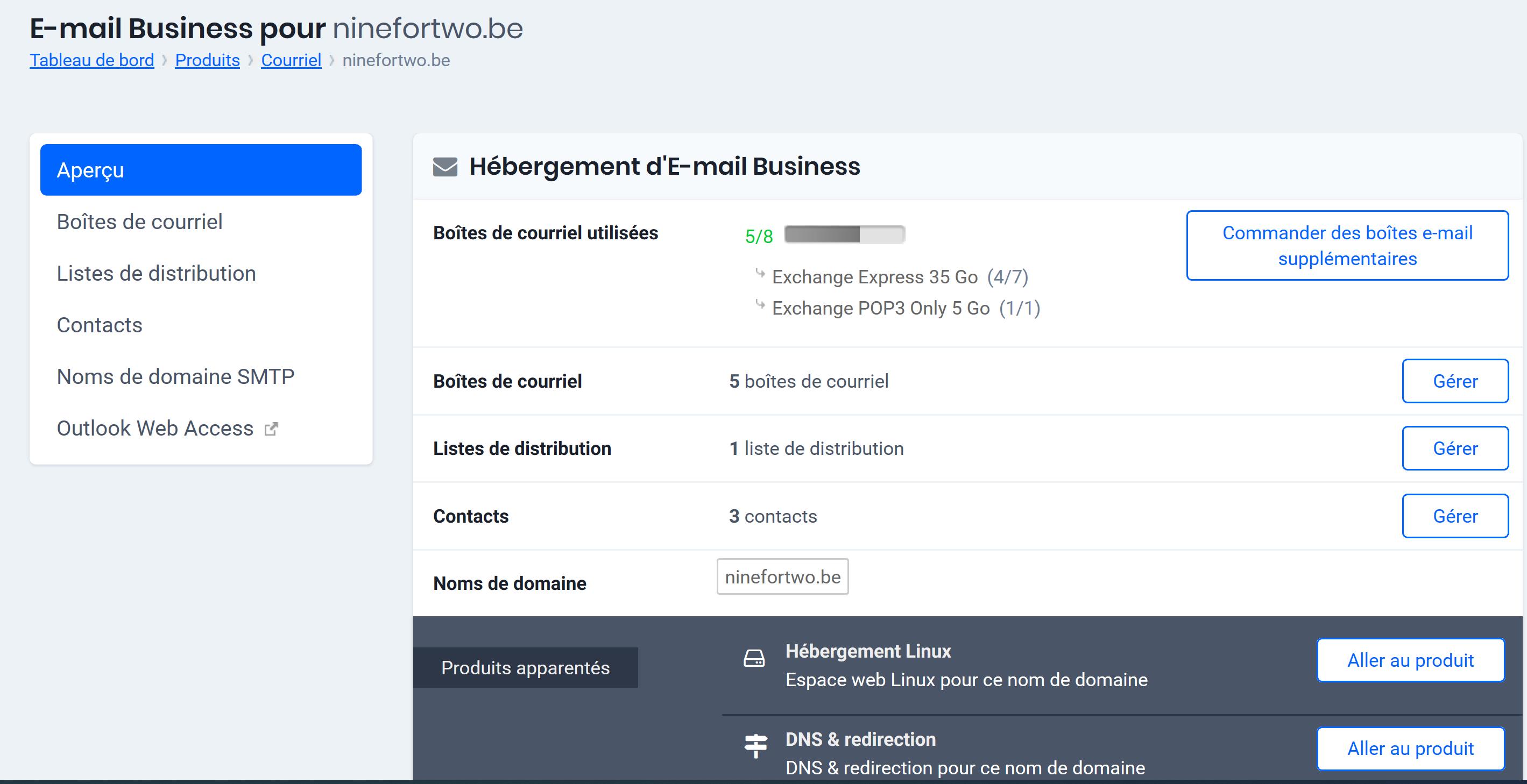 Cliquez sur Outlook Web Access