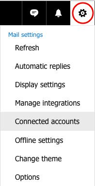 Instellingen >> Connected accounts