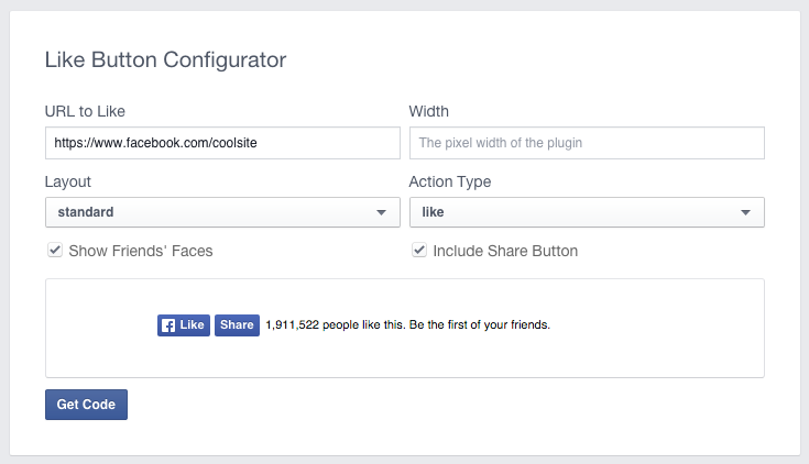 Like Button Configurator