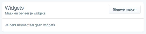 Twitter Widgets Configurator