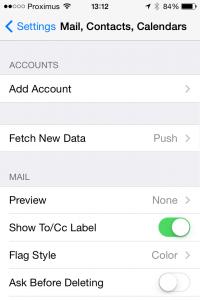 E-mail, contacten, kalenders