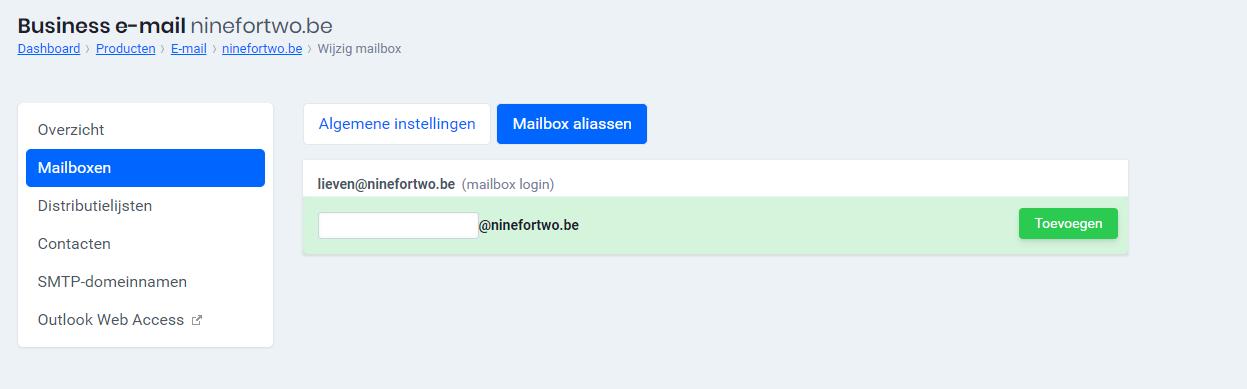 Mailbox aliassen