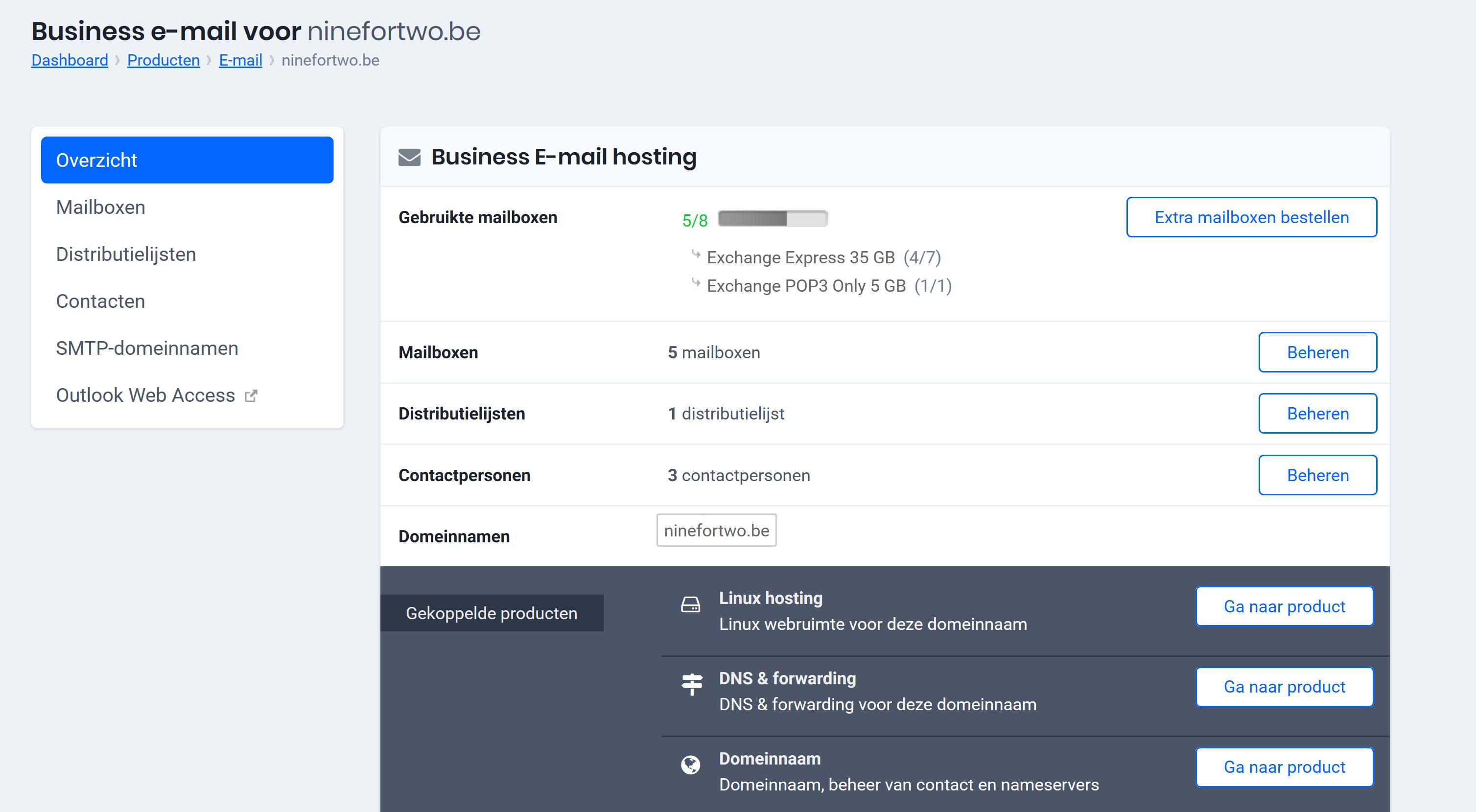 Klik op Outlook Web Access
